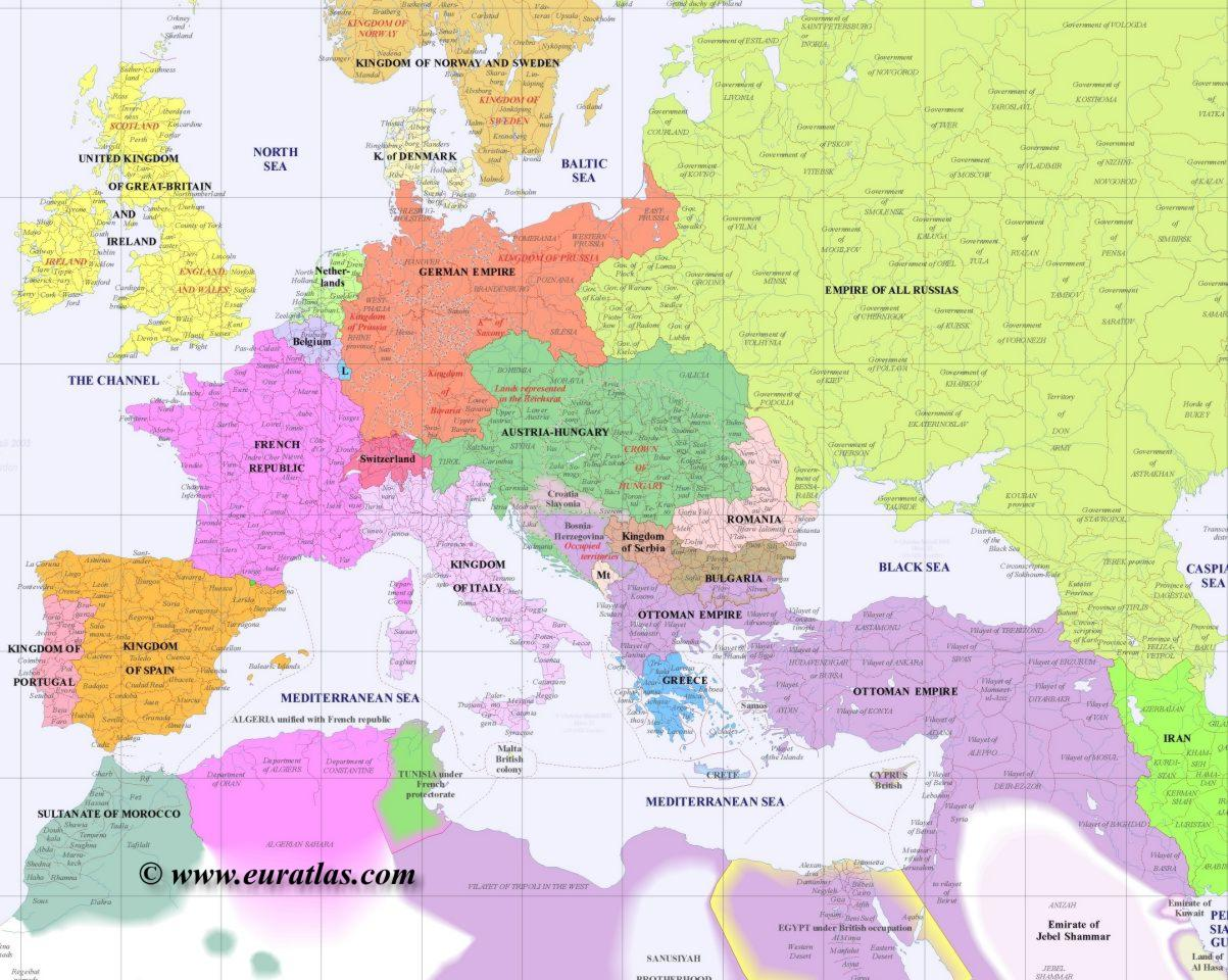 Post Ww1 Map Of Europe